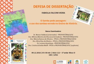 Cartaz divulgação defesa Fabiolla