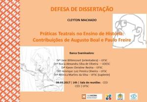 Cartaz divulgação defesa Cleyton